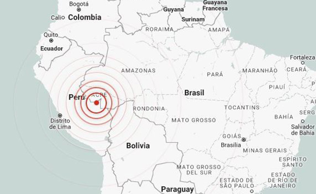 Sismo de 6.1 grados Richter sacude frontera de Perú con Brasil