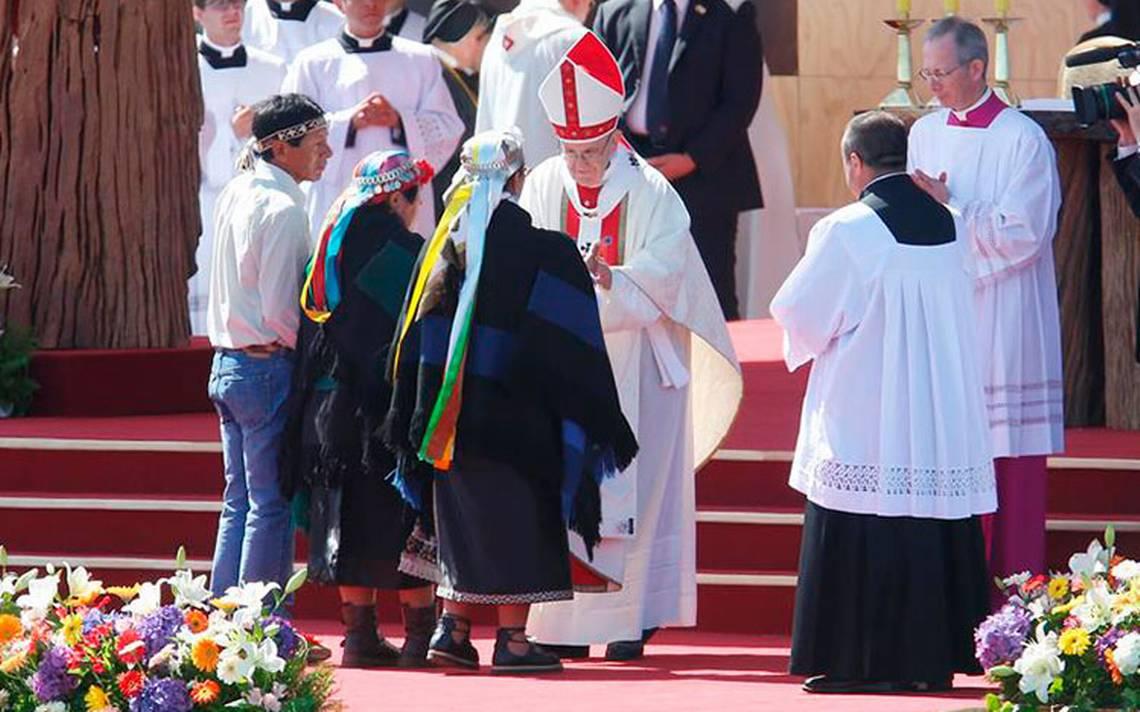 En tierra mapuche chilena, el Papa Francisco se lanza contra la violencia