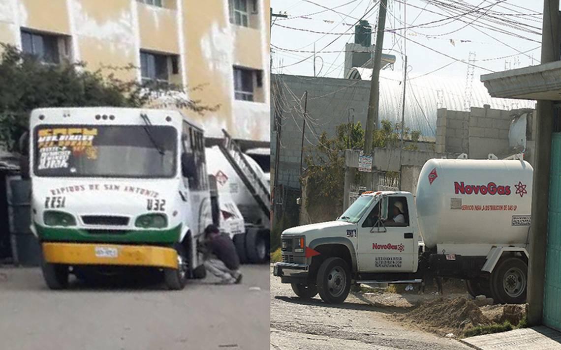 ¡A la luz del día! Surten gas a camiones en plena vía pública