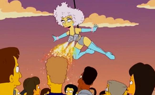 Los Simpson predicen el show del Super Bowl de Lady Gaga