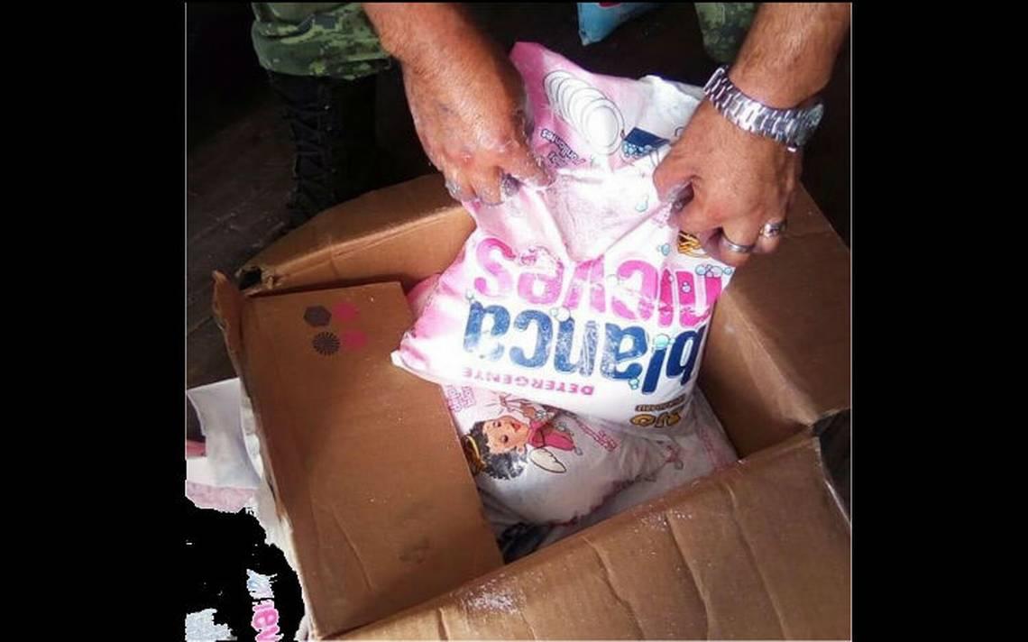 Militares decomisan droga en el interior de bolsas de jabón en polvo en Los Mochis
