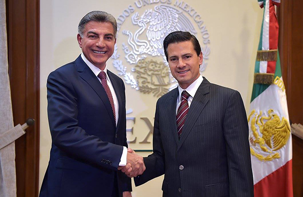 Reunión del Jefe del Ejecutivo con el gobernador electo de Puebla