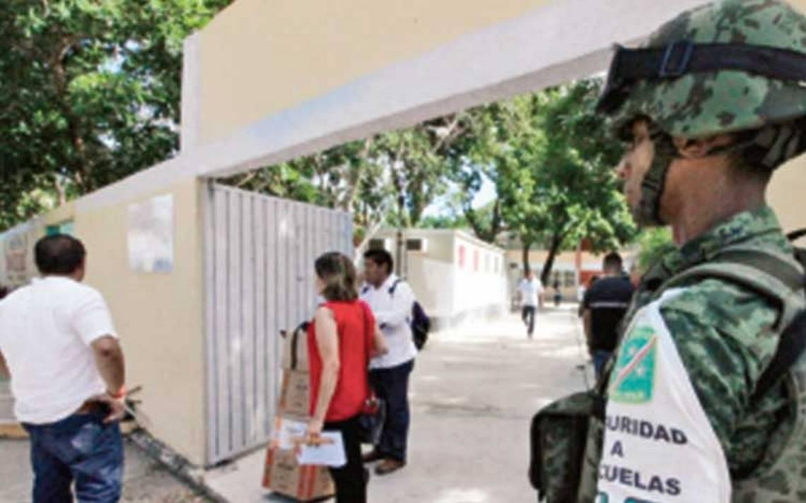 Vigilancia extrema en inicio de clases en Guerrero