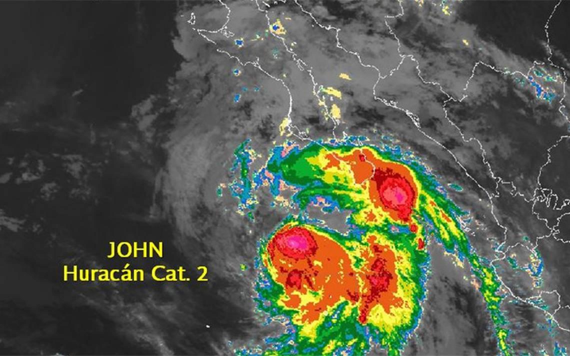 Huracán John ocasionará tormentas muy fuertes en BCS, Sonora y Sinaloa