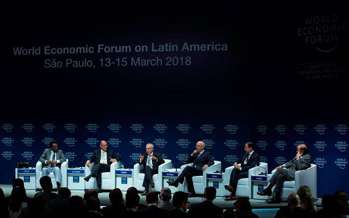 Foro Económico Mundial sobre Latinoamérica aborda corrupción en Brasil, país origen del caso Odebrecht