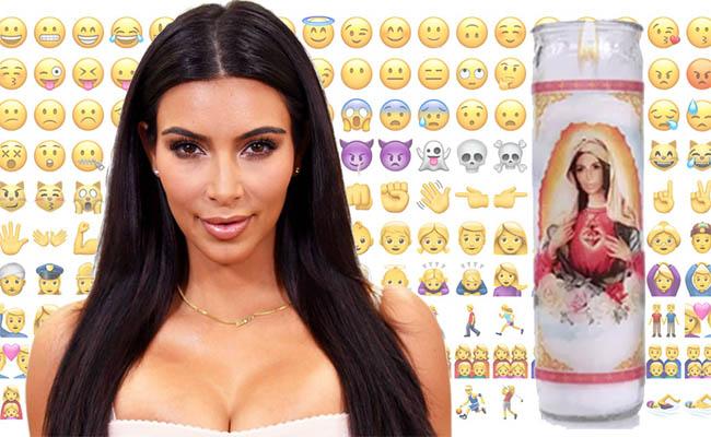 Kim Kardashian sustituye a la Virgen María ¡en una veladora!