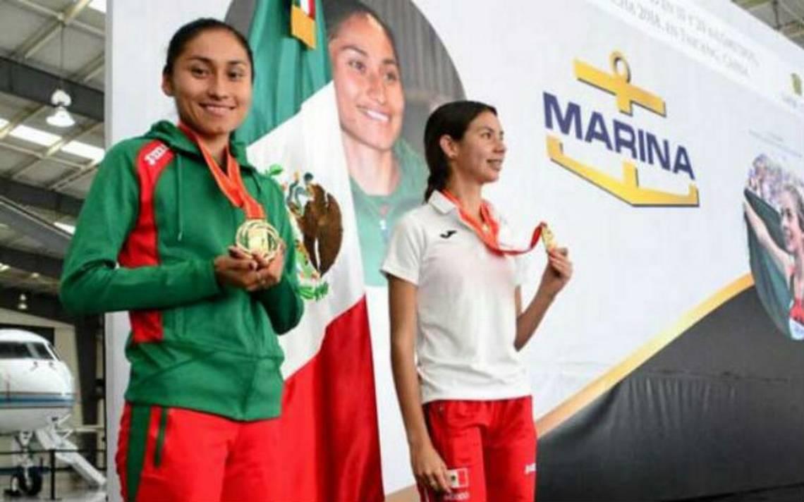 Lupita y Alegna González recibidas con mariachi tras oro mundial