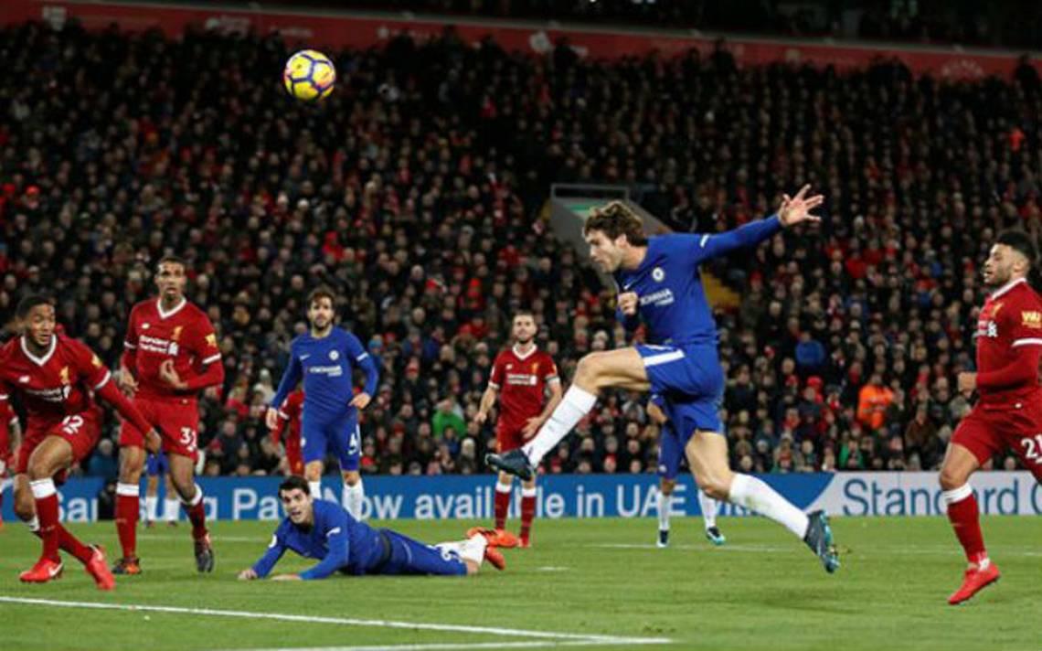En intenso partido, Chelsea rescata empate en Anfield