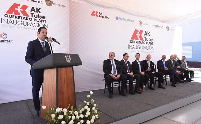 Inauguran planta estadunidense del ramo automotriz en Querétaro