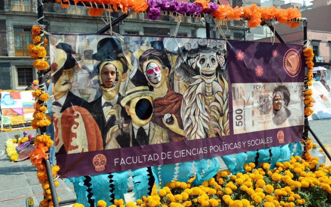 La Megaofrenda de la UNAM 2017, dedicada a Diego Rivera