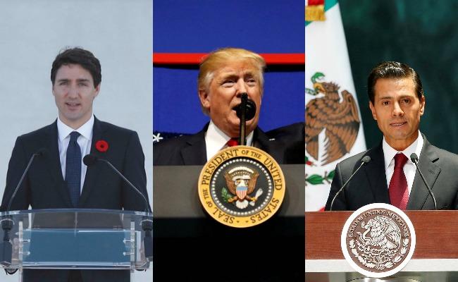 Trudeau y EPN dan bienvenida a renegociación del TLCAN