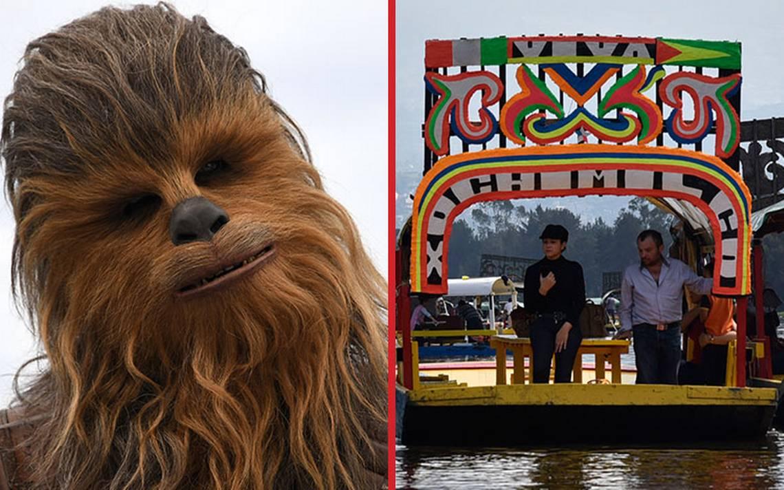 En un Xochimilco muy lejano… Chewbacca llega a buscar a Han Solo en una trajinera