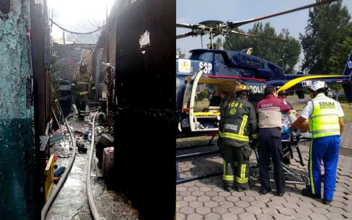 Explosión de tanques de gas en Iztapalapa deja cinco heridos