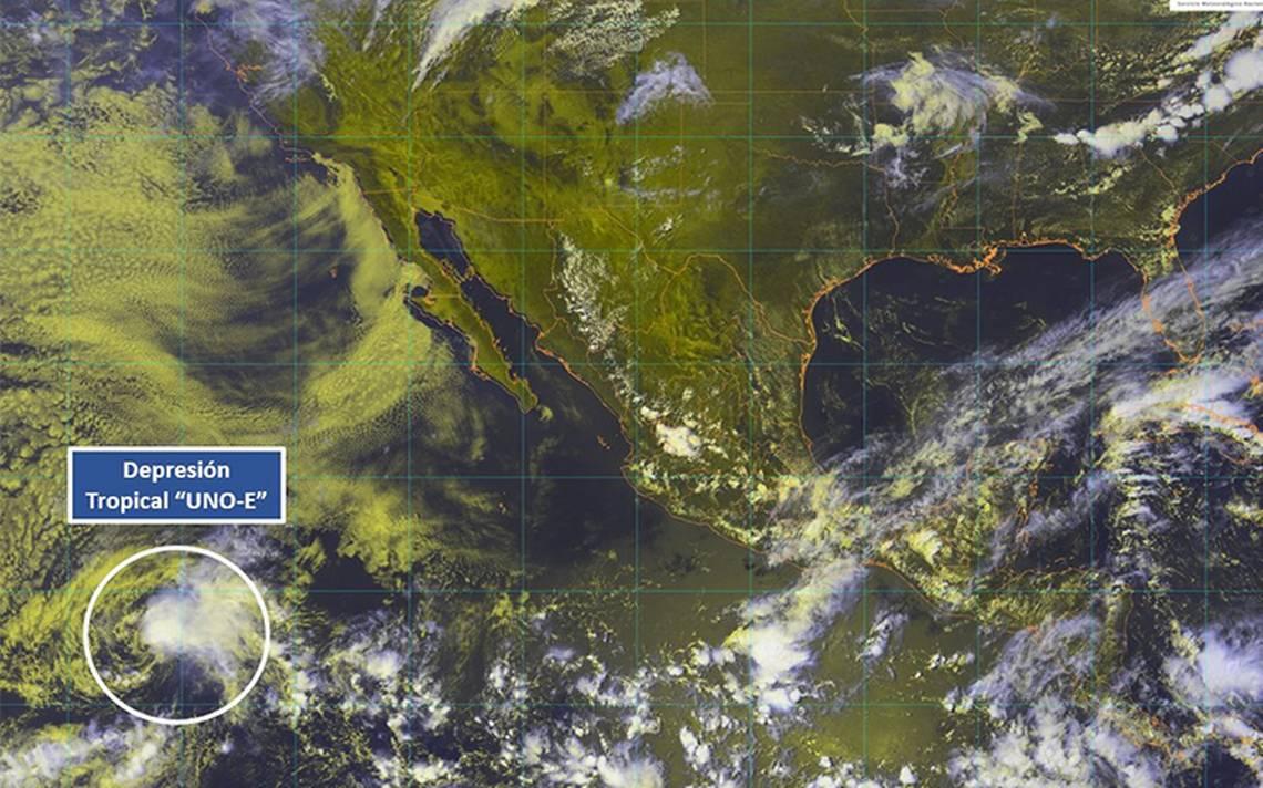 Se forma en el Pacífico la depresión tropical UNO-E