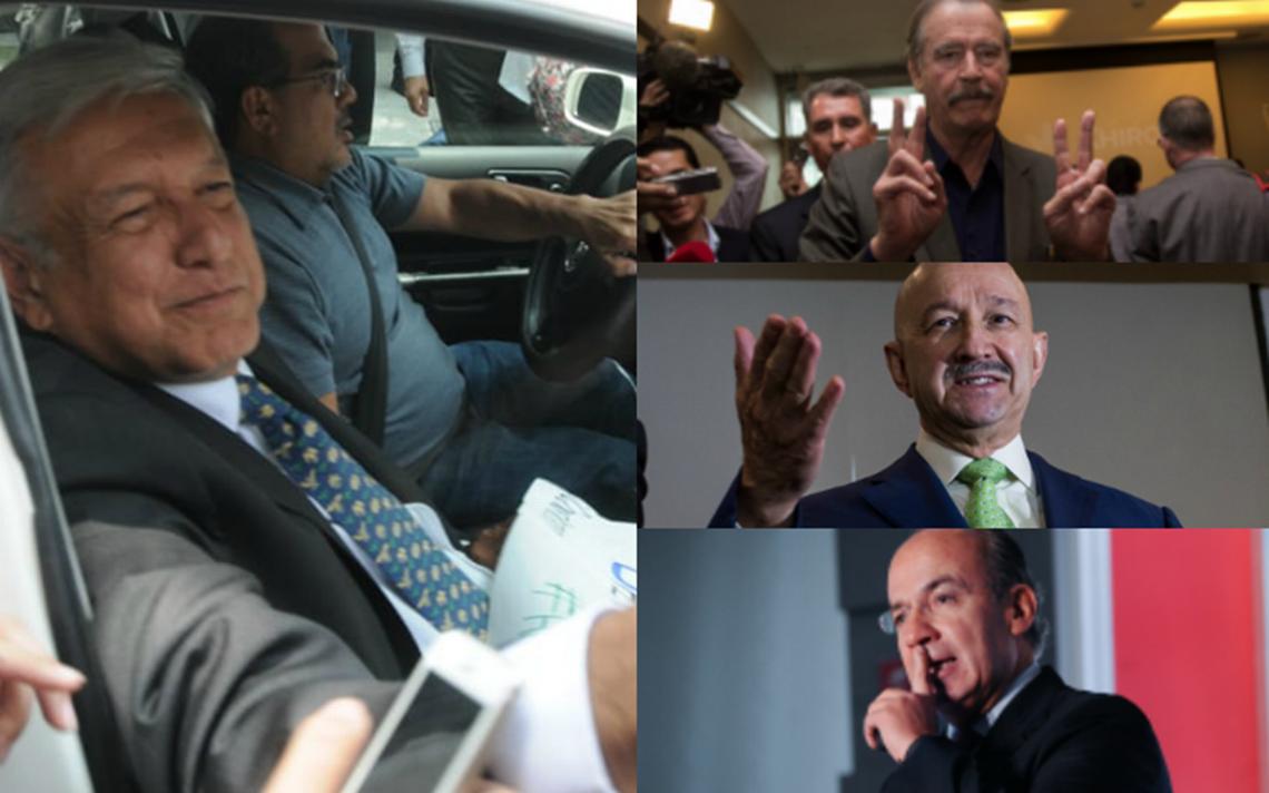 AMLO agradece felicitaciones de Fox, Calderón y Salinas… aunque se quedarán sin pensión