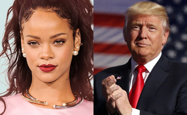 La cantante Rihanna llama Cerdo inmoral a Donald Trump