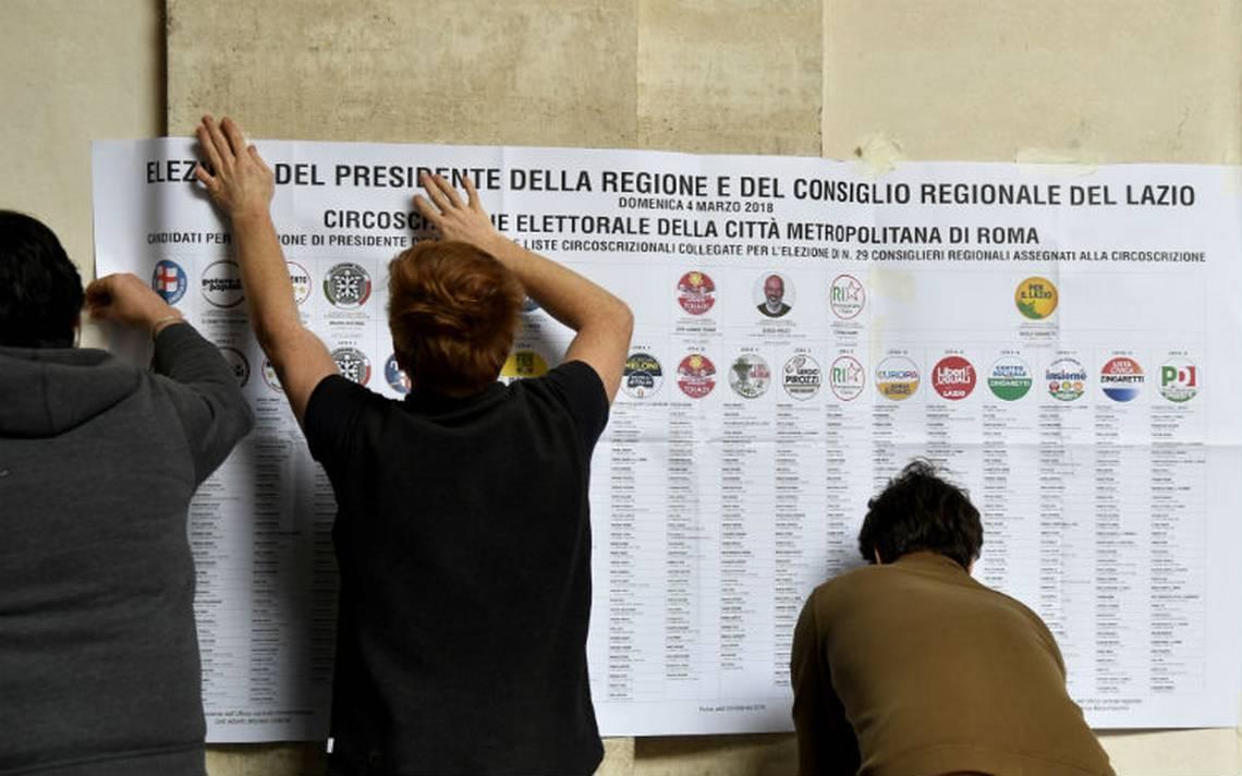 La centro-derecha se perfila para ganar los comicios de Italia este domingo