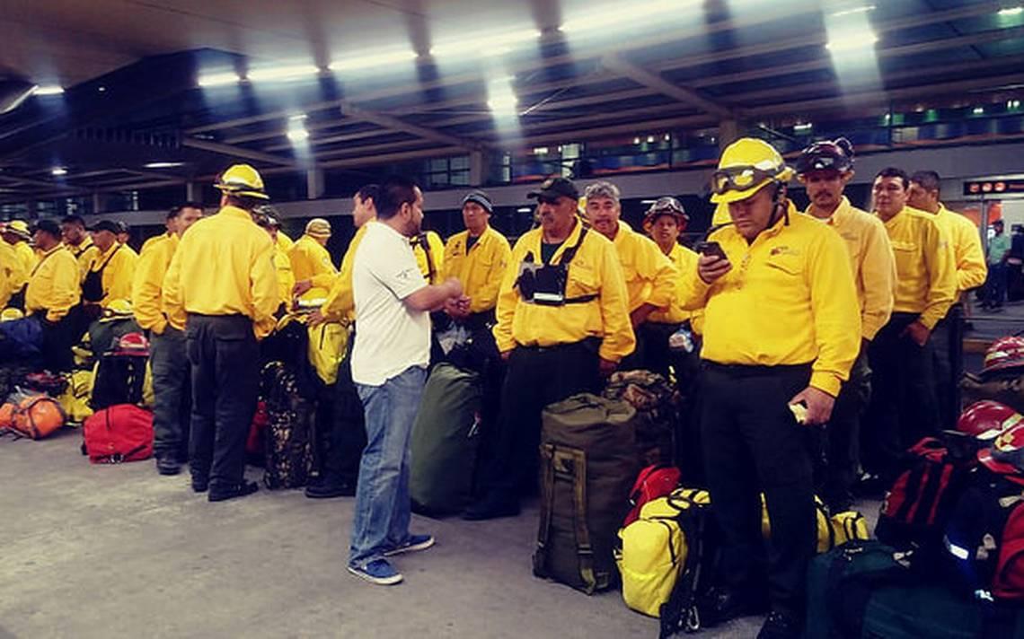 Más de 100 brigadistas de Jalisco parten a Canadá para combatir incendios forestales