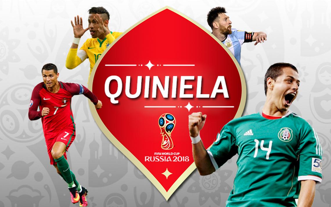 ¡Elige a tu favorito! Quiniela Mundial Rusia 2018