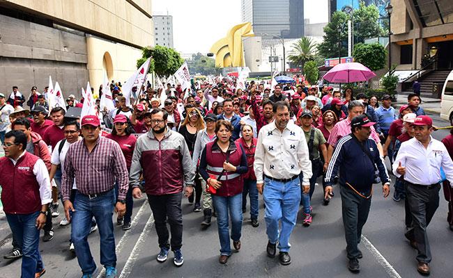 Delfina Gómez lleva Marcha de la Esperanza a la Secretaría de Gobernación