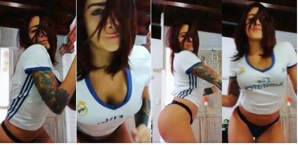Érika Fernández, la sensual motivación del Real Madrid