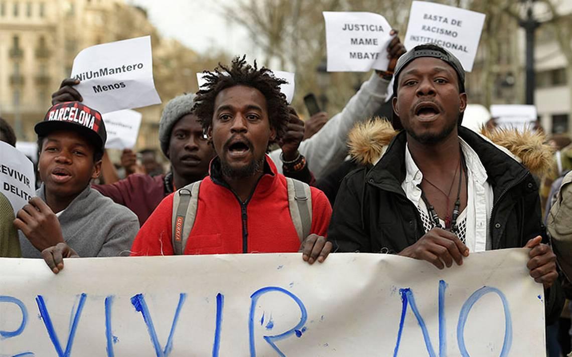 Barrio de Madrid registra disturbios por muerte de un senegalés