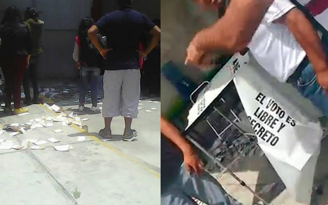 Robo de urnas y balazos en casillas de Puebla