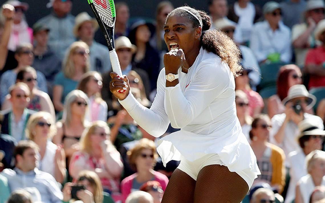 Serena Williams en las semifinales de Wimbledon