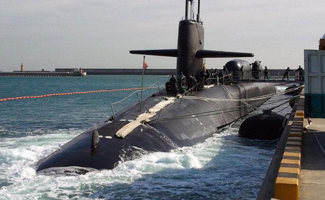 Entre tensión, submarino nuclear de EU se acerca a Corea del Sur