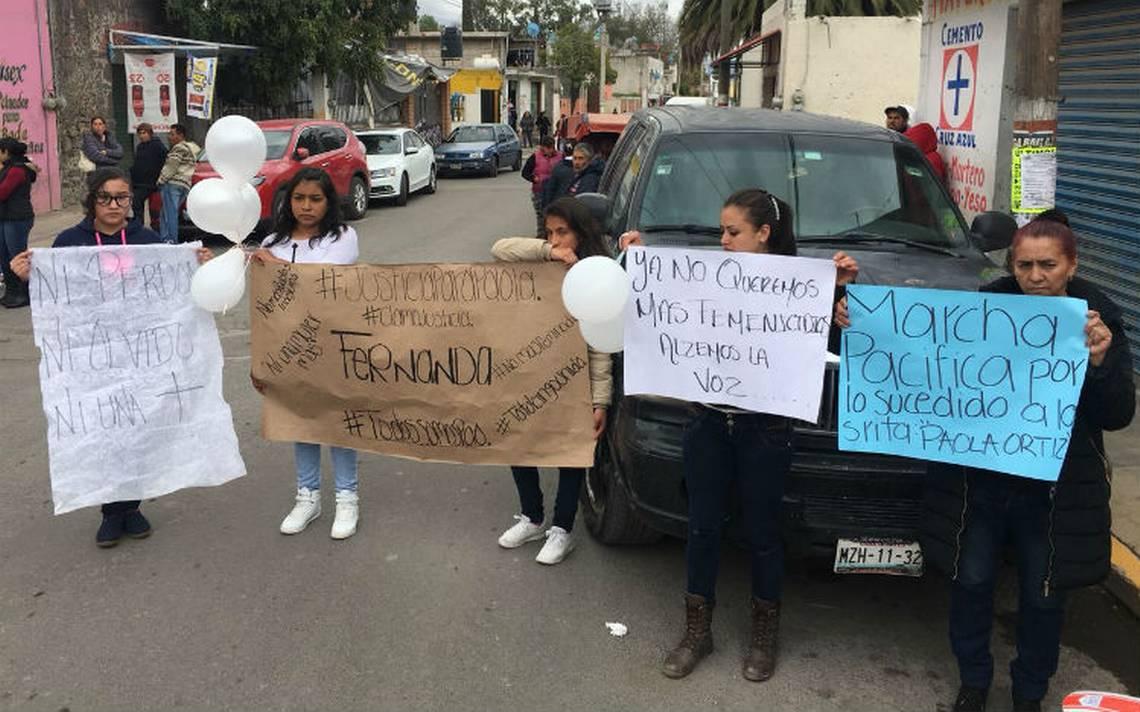 Bloquean la Texcoco-Lechería para exigir justicia para Paola Fernanda