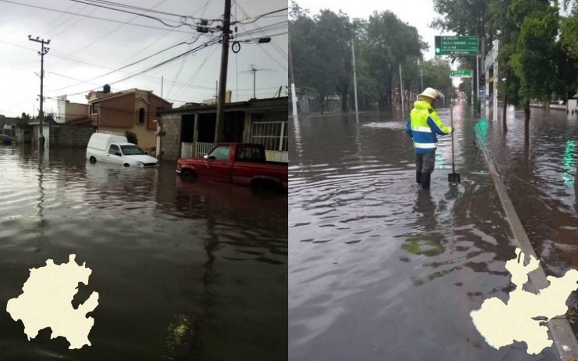 [Videos] Lluvias inundan calles de Pachuca y Zapopan