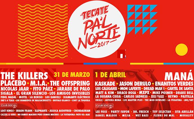 ¡Ya está el cartel por día del festival Pa´l Norte 2017!