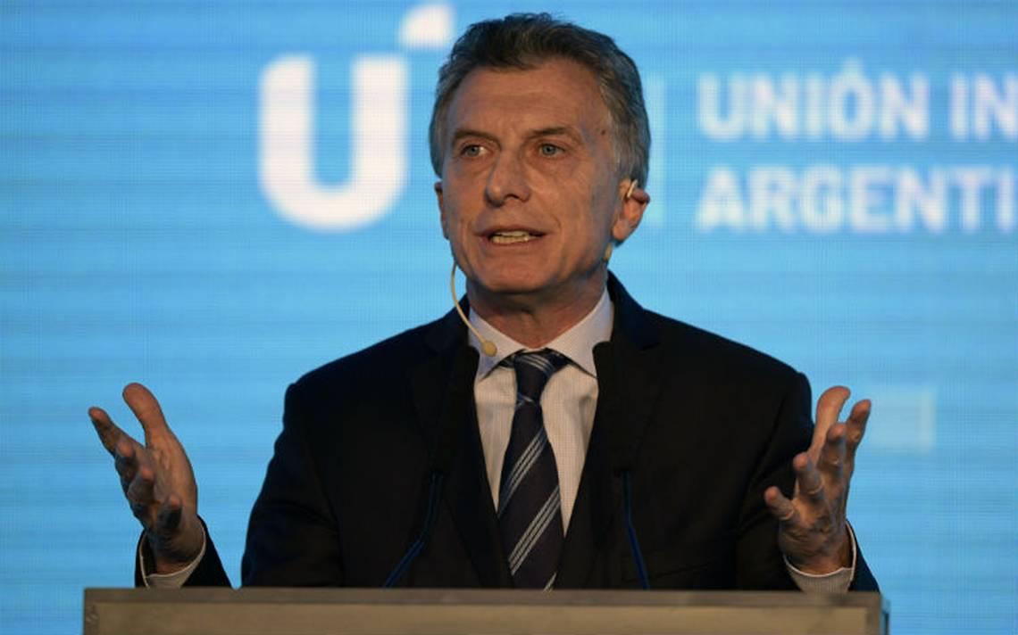 Asegura Macri que crisis económica argentina es sólo una transición