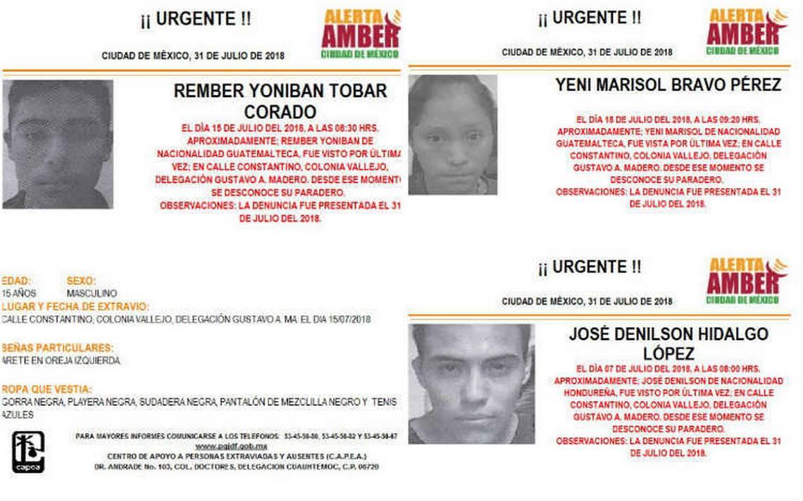 Activan Alerta Amber para buscar a menores centroamericanos en la GAM