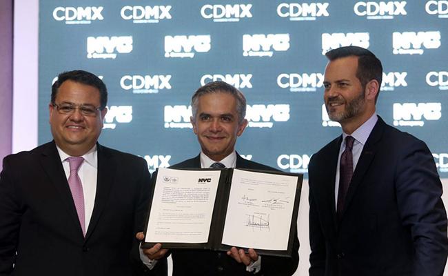 Firman CDMX y Nueva York acuerdo de colaboración turística