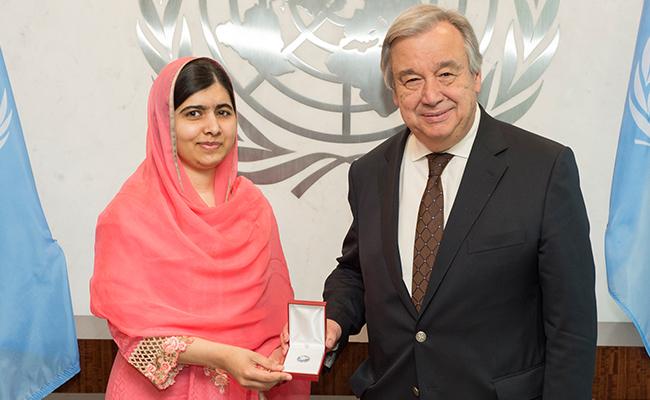 ONU nombra a Malala Yousafzai como mensajera de la paz