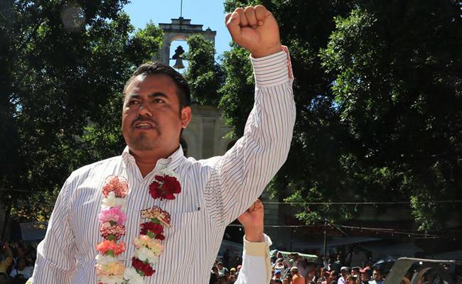 Con marcha, inicia nuevo secretario general de la CNTE