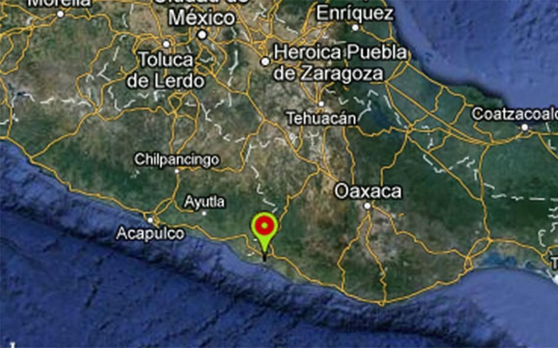 Reportan sismo de magnitud 4.6 en Pinotepa Nacional, Oaxaca