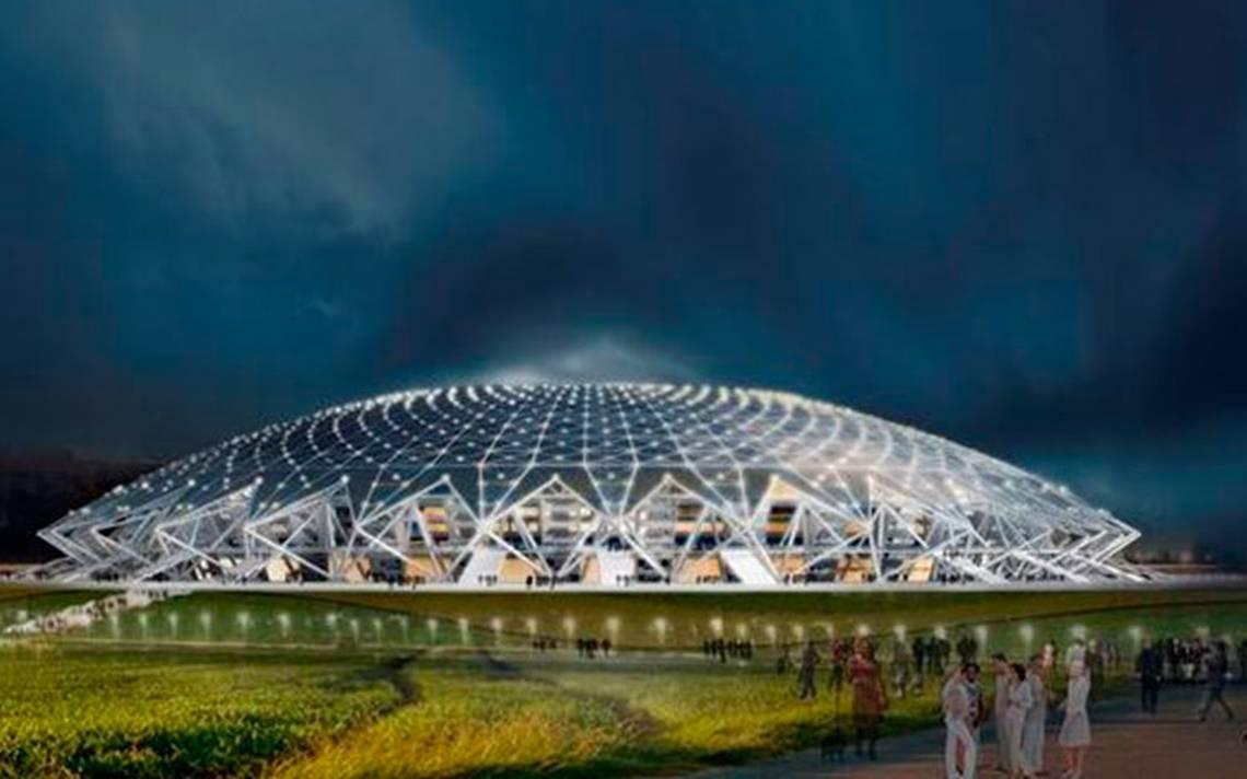 El estadio Cosmos Arena de Rusia, con rezago para el Mundial