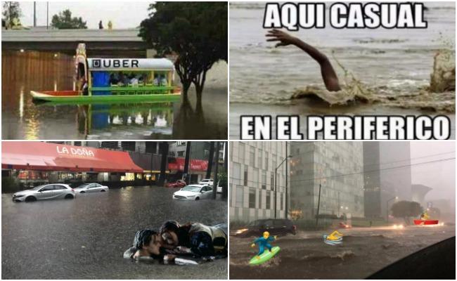 Tláloc se enoja y memes se burlan de la tormenta en Ciudad de México