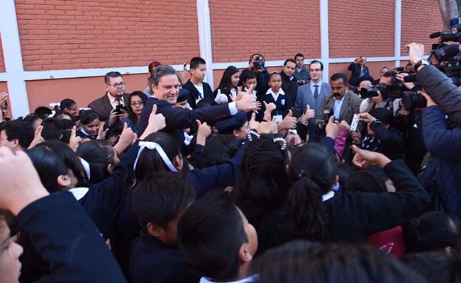 Se fortalece Mochila Segura contra armas en escuelas: Aurelio Nuño