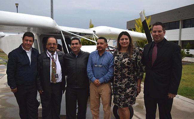 Presentan en Hidalgo proyecto de aeronave tripulada
