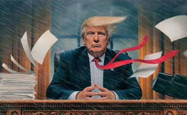 """En medio del caos"", Trump vuelve a ser la portada de TIME"