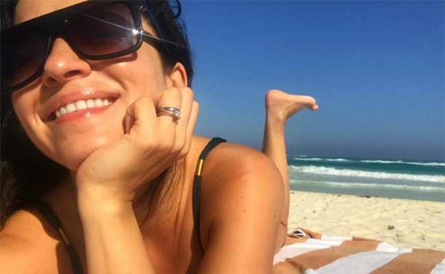 Laura G disfruta de su embarazo en playas de Tulum