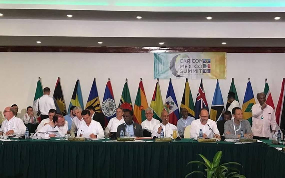 México y Caricom acelerarán recursos para reconstrucción tras paso de Irma y María