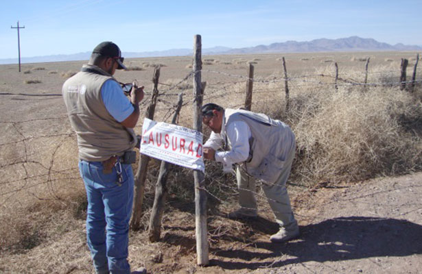 Clausura Profepa bancos de materiales pétreos en Chihuahua