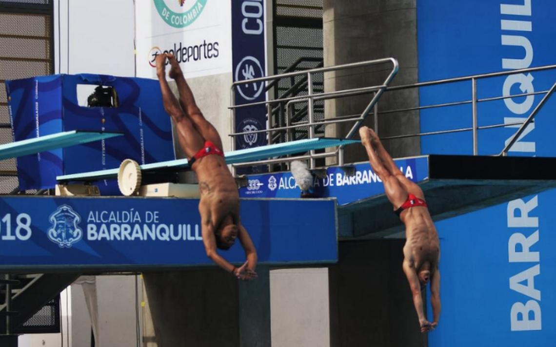 Pacheco y Ocampo se llevan el oro en trampolín 3 metros de Barranquilla 2018