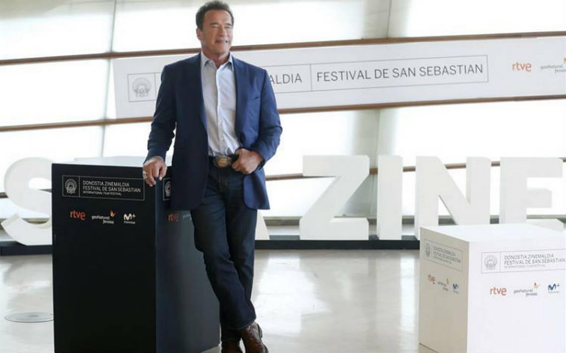 """Al grito de """"Sayonara"""", San Sebastián recibe a Schwarzenegger"""