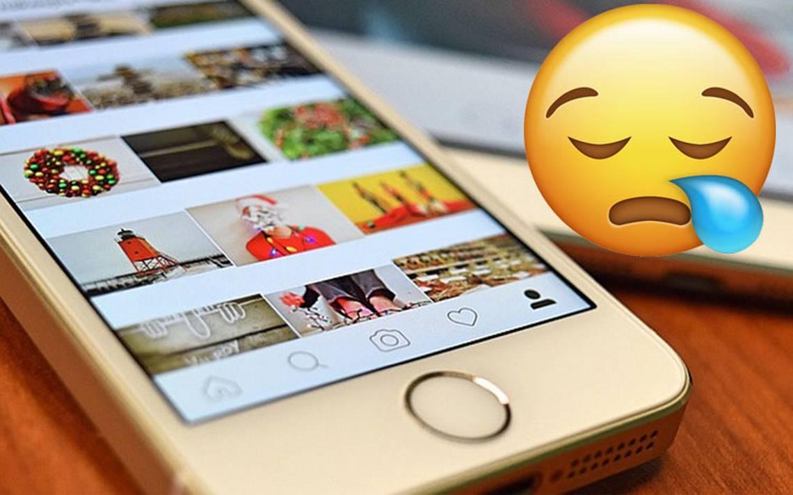 Usuarios reportan caída de Instagram