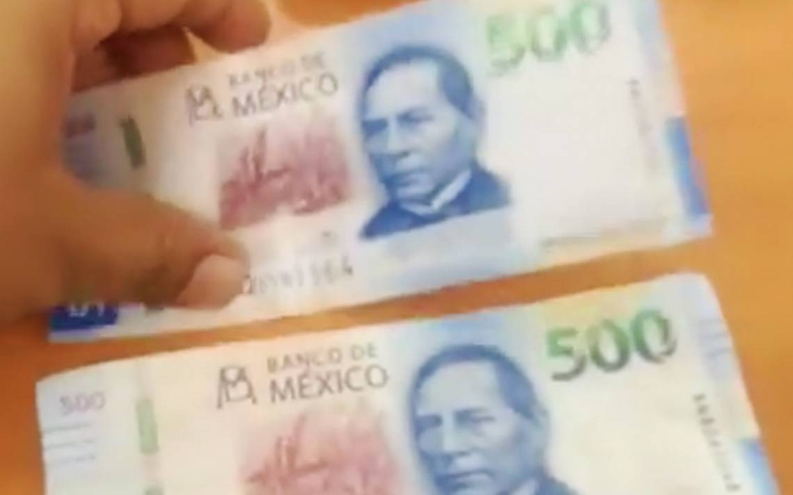 [Video] Ya circulan billetes falsos de 500 pesos pero A?cA?mo identificarlos?